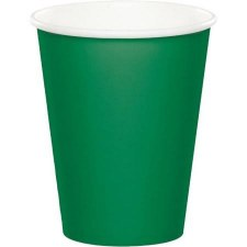 Touch of Color 9oz Paper Cups, 24ct- Emerald Green
