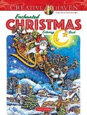 Creative Haven Adult Coloring Book- Enchanted Christmas
