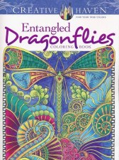 Creative Haven Adult Coloring Book- Entangled Dragonflies