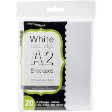 Core'dinations A2 Deco Edge Envelope Pack, 20ct- White