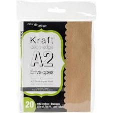 Core'dinations A2 Deco Edge Envelope Pack, 20ct- Kraft