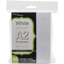 Core'dinations A2 Envelope Pack, 50ct- White