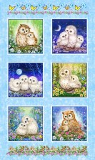 Animals Fabric Panel- Epic Owls