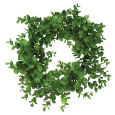 "Eucalyptus Wreath/Candle Ring, 14""- Dusty Green"