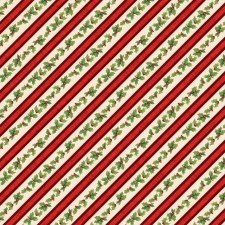 Evergreen Farm Fabric- Diaonal Holly