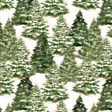 Evergreen Farm Fabric- Trees