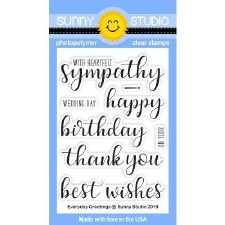 Sunny Studio Everyday Greetings Clear Stamps