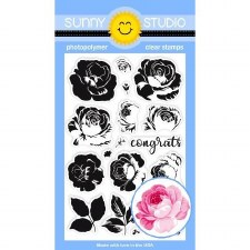 Sunny Studio Everything's Rosy Clear Stamps