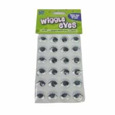 Wiggle Eyes w/ Eyelashes, 24ct