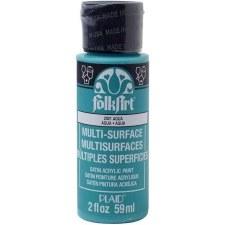 FolkArt 2 Oz. Multi-Surface Acrylic Paint- Aqua