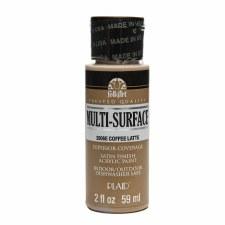 FolkArt 2 Oz. Multi-Surface Acrylic Paint- Coffee Latte