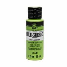 FolkArt 2 Oz. Multi-Surface Acrylic Paint- Lime Green