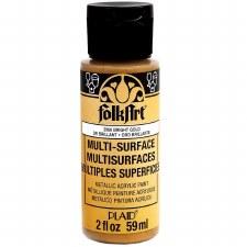 FolkArt 2 Oz. Metallics Acrylic Paint- Bright Gold
