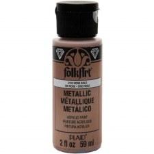 FolkArt 2 Oz. Metallic Acrylic Paint- Rose Gold