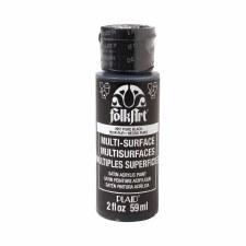 FolkArt 2 Oz. Multi-Surface Acrylic Paint- Pure Black