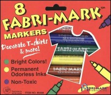 Fabri-Mark Fabric Markers, 8ct- Primary