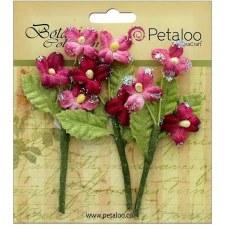 Botanica Fairy Blossom Branch Embellishments- Fuchsia