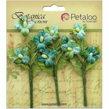 Botanica Fairy Blossom Branch Embellishments- Teal