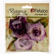 Botanica Fairy Rose Bud Embellishments- Lavender/Purple