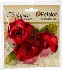 Botanica Fairy Rose Bud Embellishments- Red