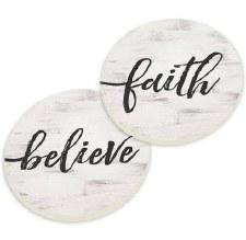 Car Coasters, 2pk- Faith Believe
