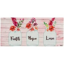 Sassafrass Switch Mat Insert- Faith Hope Love Mason Jars