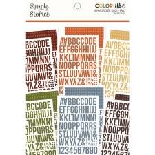 Color Vibe Alphabet Sticker Book- Fall