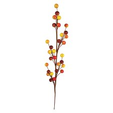 """Fall Berry Stem, 18""""- Brown, Gold, & Yellow"""