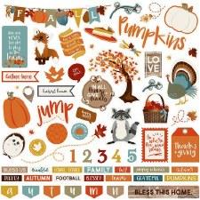 Fall Breeze 12x12 Sticker Sheet