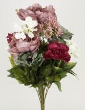 Gather by Nicole Floral Bush- Hydrangeas & Peonies, Purples