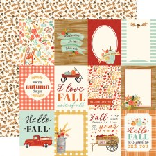 Fall Market 12x12 Paper- 3x4 Cards