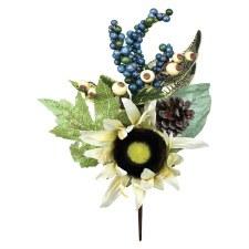 "14"" Fall Sunflower, Leaf, & Berry Pick"