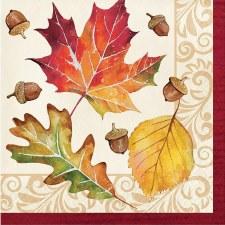 Fall Leaves Napkins 16ct.