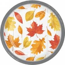 "Falling Leaves Plates, 7"""