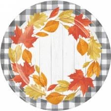 "Falling Leaves Plates, 9"""
