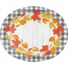 Falling Leaves Plates, Oval
