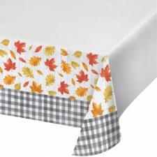 Falling Leaves Plastic Tablecloth
