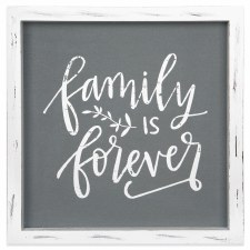 Framed Linen Sign- Family is Forever