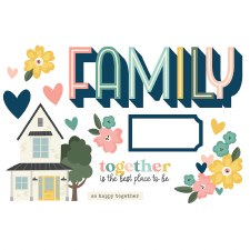 Simple Pages: Page Pieces Die Cuts- Family