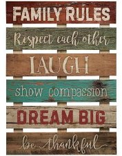 Pallet Decor- Family Rules