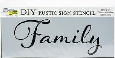 "DIY Rustic Sign Stencil, 16.5""x6""- Family"
