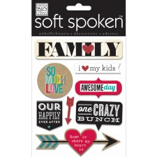 MAMBI Soft Spoken Stickers- Family- So Much Love