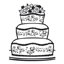 Darice Embossing Folder- Celebrations- Fancy Cake