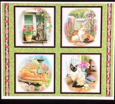 Animals Fabric Panel- Fancy Felines