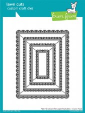 Lawn Fawn Stackable Rectangles Craft Dies- Fancy Scalloped