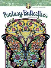 Creative Haven Adult Coloring Book- Fantasy Butterflies