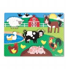 Melissa & Doug Peg Puzzle- Farm