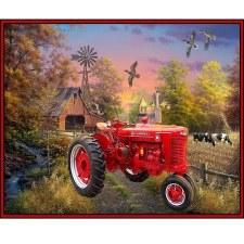 Farm & Country Fabric Panel- Farmall