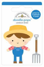 Down On The Farm Doodle-Pops Stickers- Farmer Joe