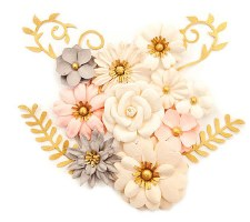 Spring Farmhouse Flower Embellishments- Beautiful Country